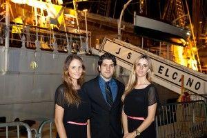 Cocktail reception on board of Spanish Navy training ship Juan Sebastián de Elcano, on May 2, 2013, at Bicentennial Park, Miami.
