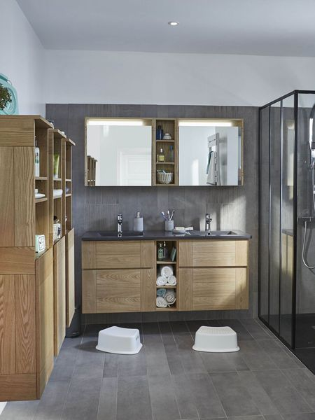 12 id es pour am nager une salle de bains familiale salle de bain pinterest salle de bains for Amenager une salle de bain de 7m2