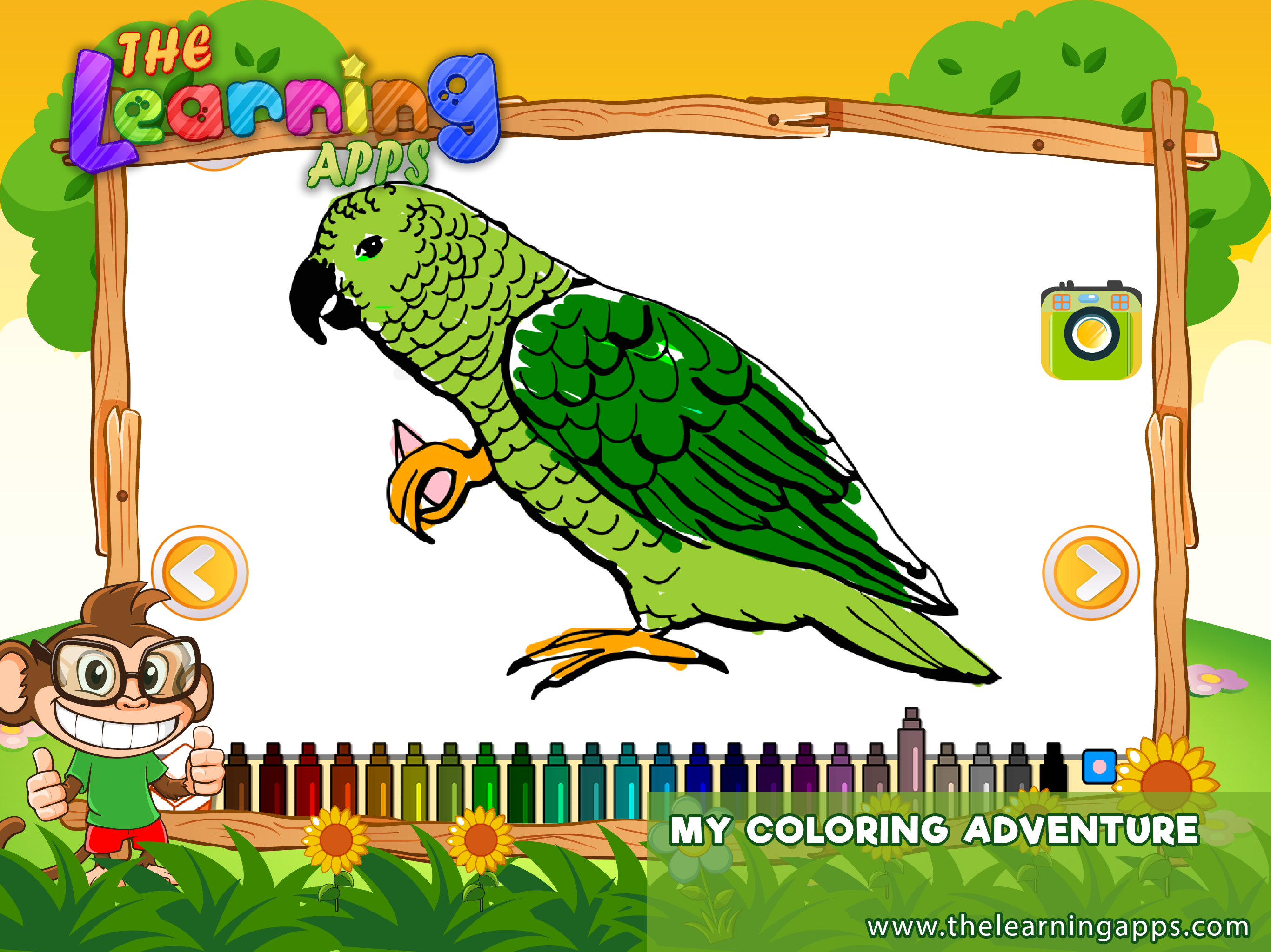 The coloring App will help your child to improve his ...
