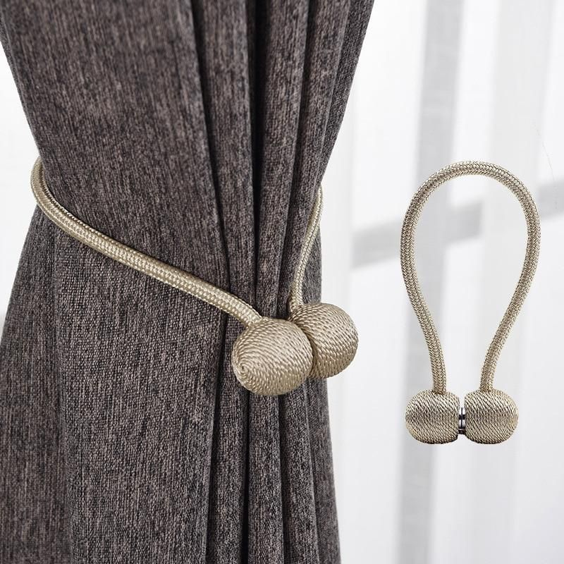 Magnetic Pearl Ball Curtain Tiebacks In 2020 Magnetic Curtain