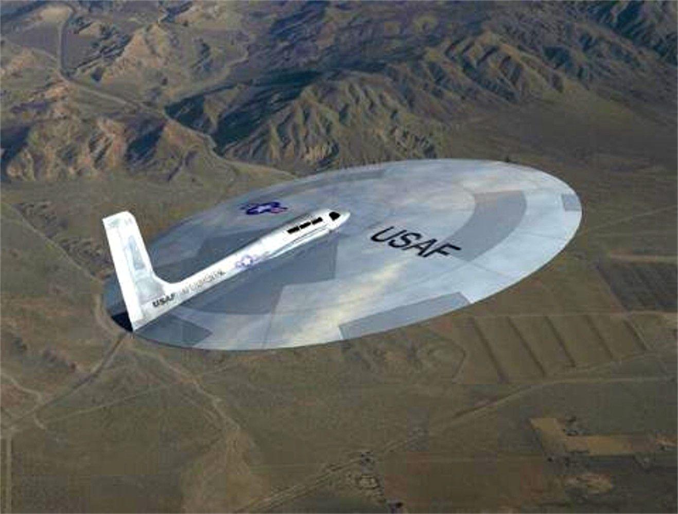 """Это USAF-40, американская """"летающая тарелка"""" в полете."""