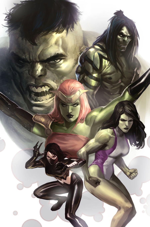 #Hulk #Fan #Art. (HULK-FAMILY-FINAL. Hulk Family) By: Marko Djurdjevic. (THE * 5 * STÅR * ÅWARD * OF: * AW YEAH, IT'S MAJOR ÅWESOMENESS!!!™) ÅÅÅ+(NO RED MARVEL BANNER BELOW)