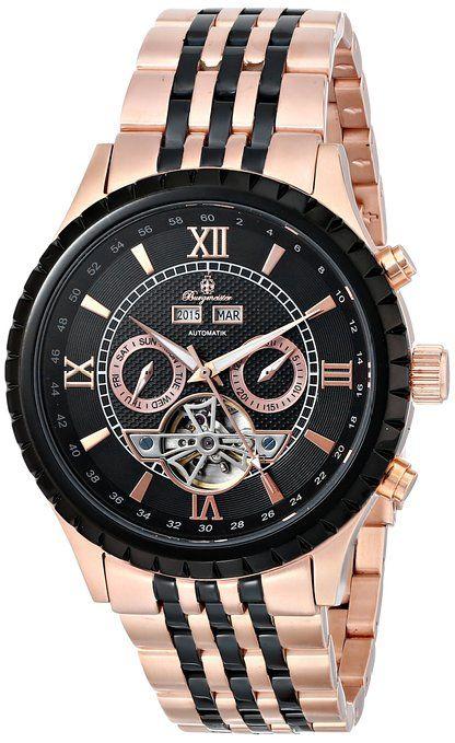 Starburst  BM327-327 - Reloj de automático para hombre, con correa de acero inoxidable chapado, color oro rosa