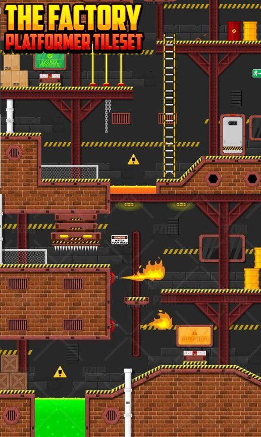 The Factory - #Platformer #Tileset #Textures & #Materials