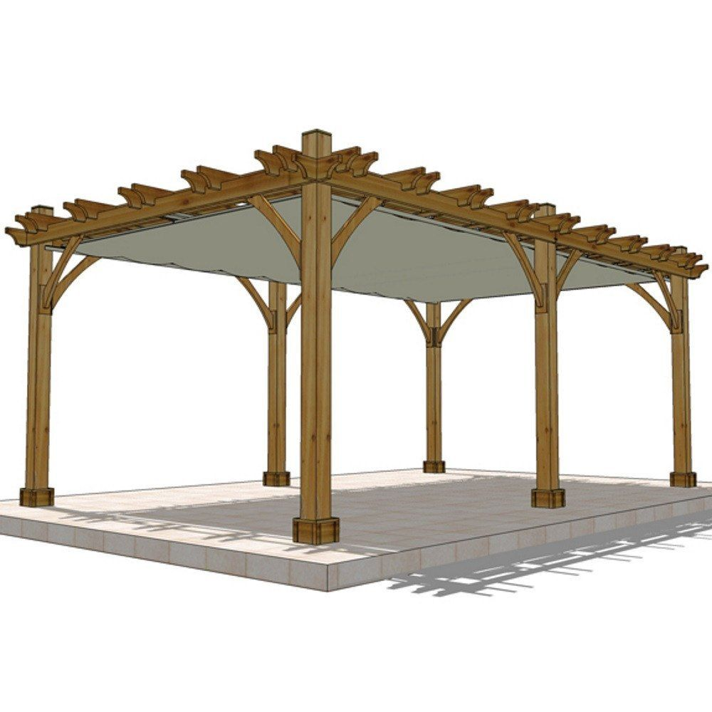 12 X 20 6 Post Breeze Pergola With Retractable Canopy Pergula Casas Espaco Exterior
