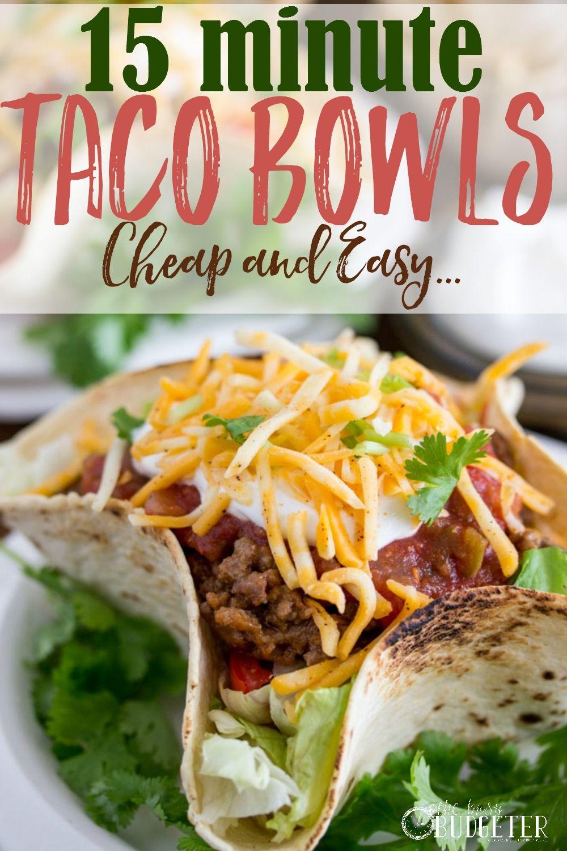 Cheap And Easy Taco Bowl Recipe Recipe Taco Bowl Recipe Bowls Recipe Easy Taco