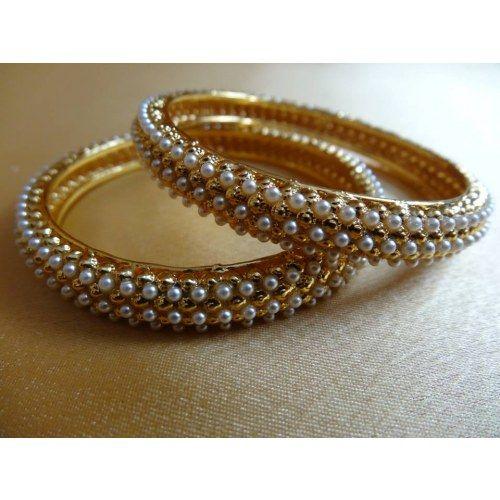 Pearl Bangles - Online Shopping for Bracelets n Bangles by Dhaanya