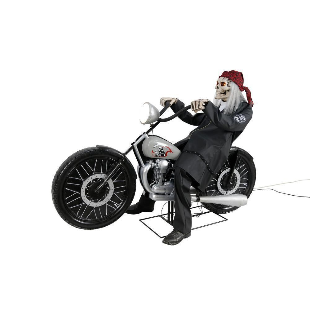 Home Accents Holiday 53 in. Motorcycle Riding Reaper Worldwide ...