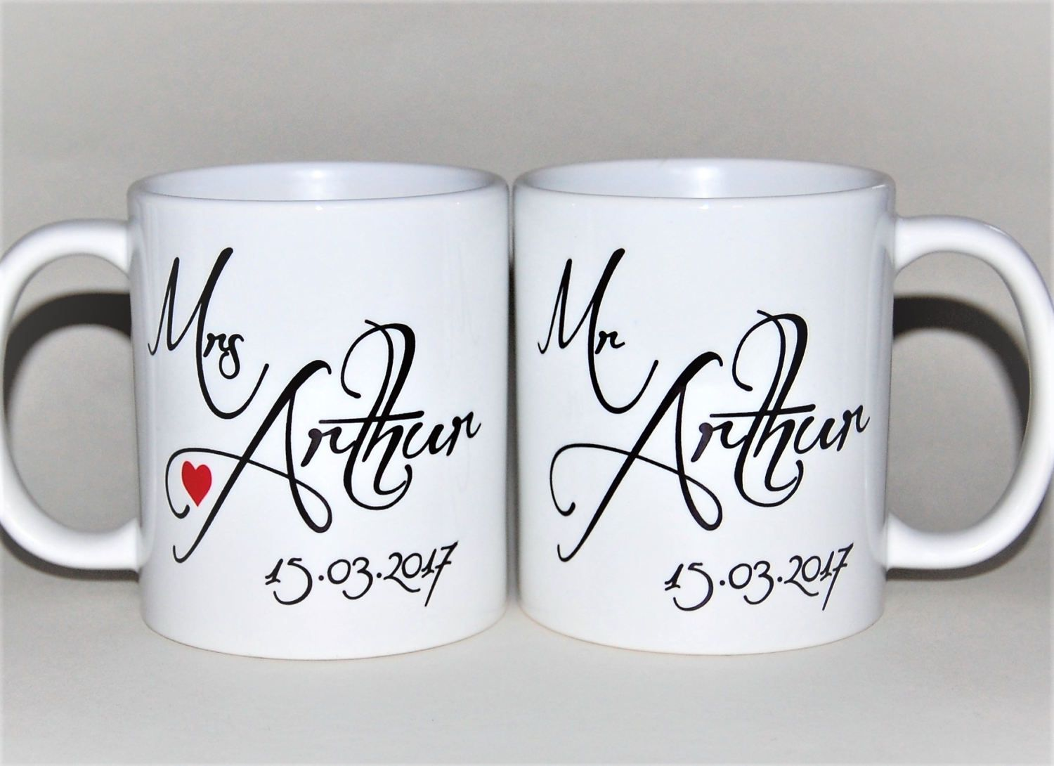 Mr And Mrs Mugs Personalised With Date By Totalmug Gift For Wedding