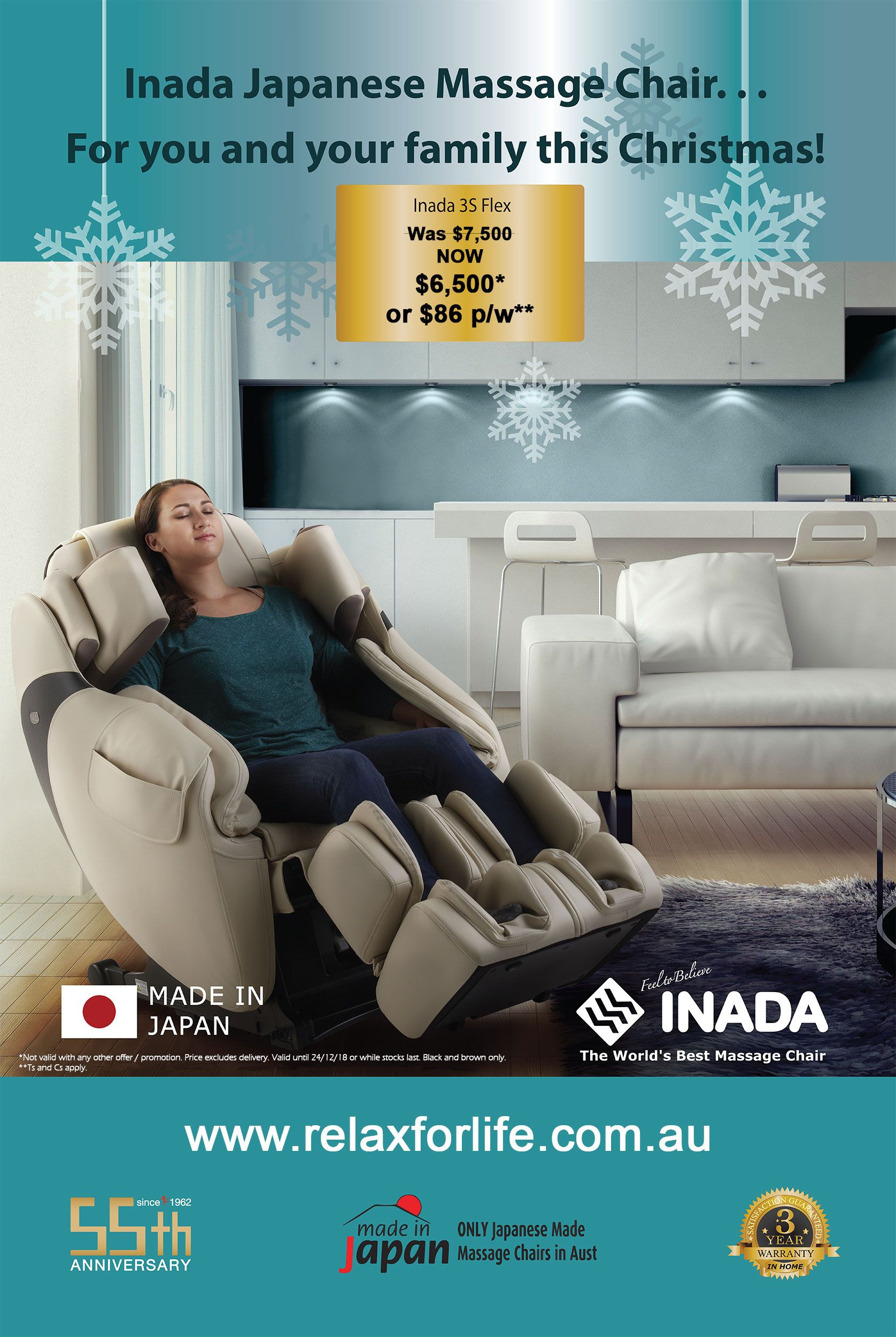 Flex Chairs Get The Inada 3s Flex For 86 Per Week Massagechair