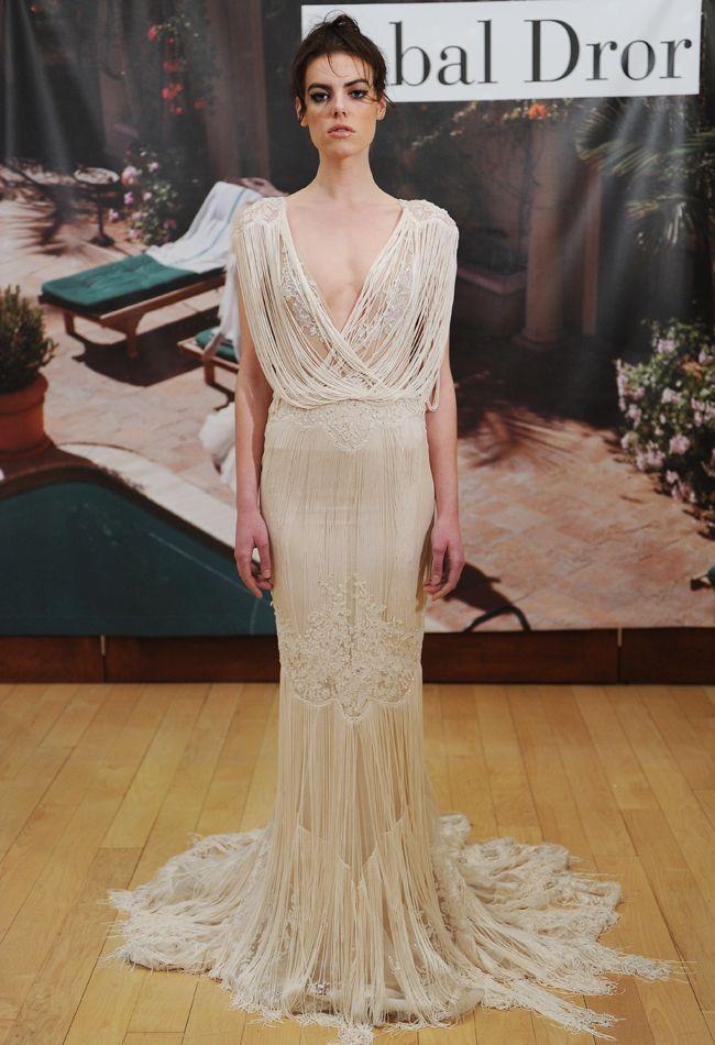 Inbal Dror Fall 2014 Wedding Dresses | Inbal dror, Fringe wedding ...