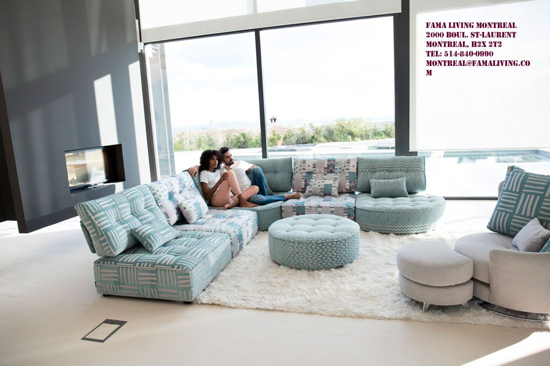 Modern Style Sectional Sofa Arianne Love Famaliving Montreal