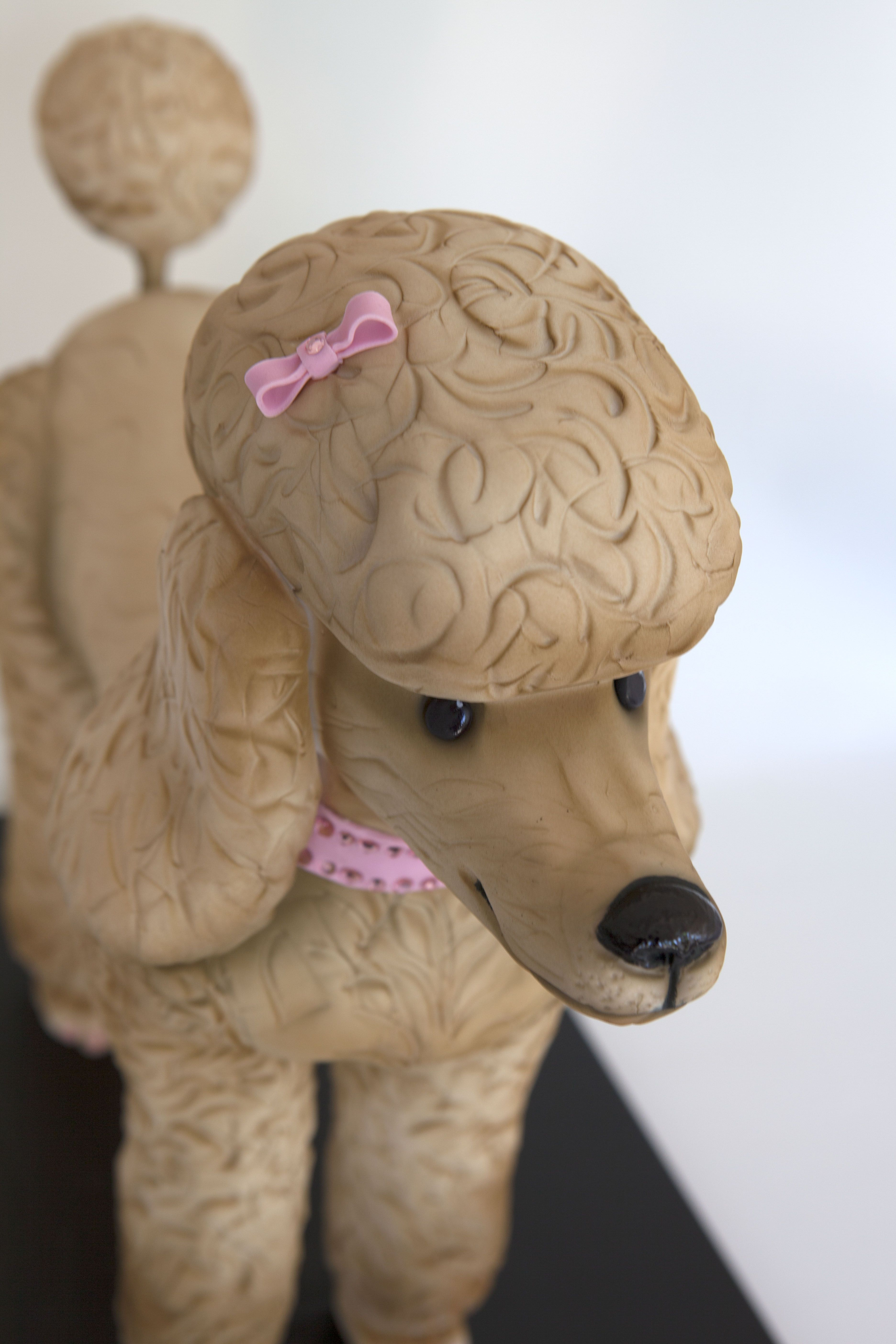 Another 3d poodle cake very cool poodle fondant