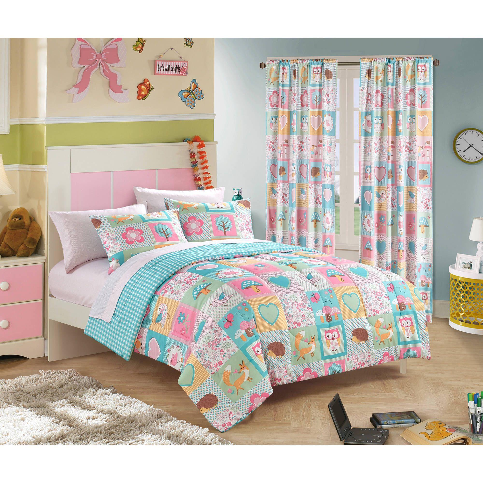 Walmart Bedroom Sets Stunning Mainstays Kids Woodland Friends Bed In A Bag Bedding Set  Walmart Decorating Inspiration