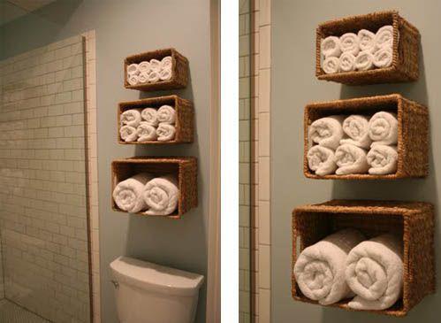Idea para ahorrar espacio en el cuarto de baño. | Ahorrar espacio ...