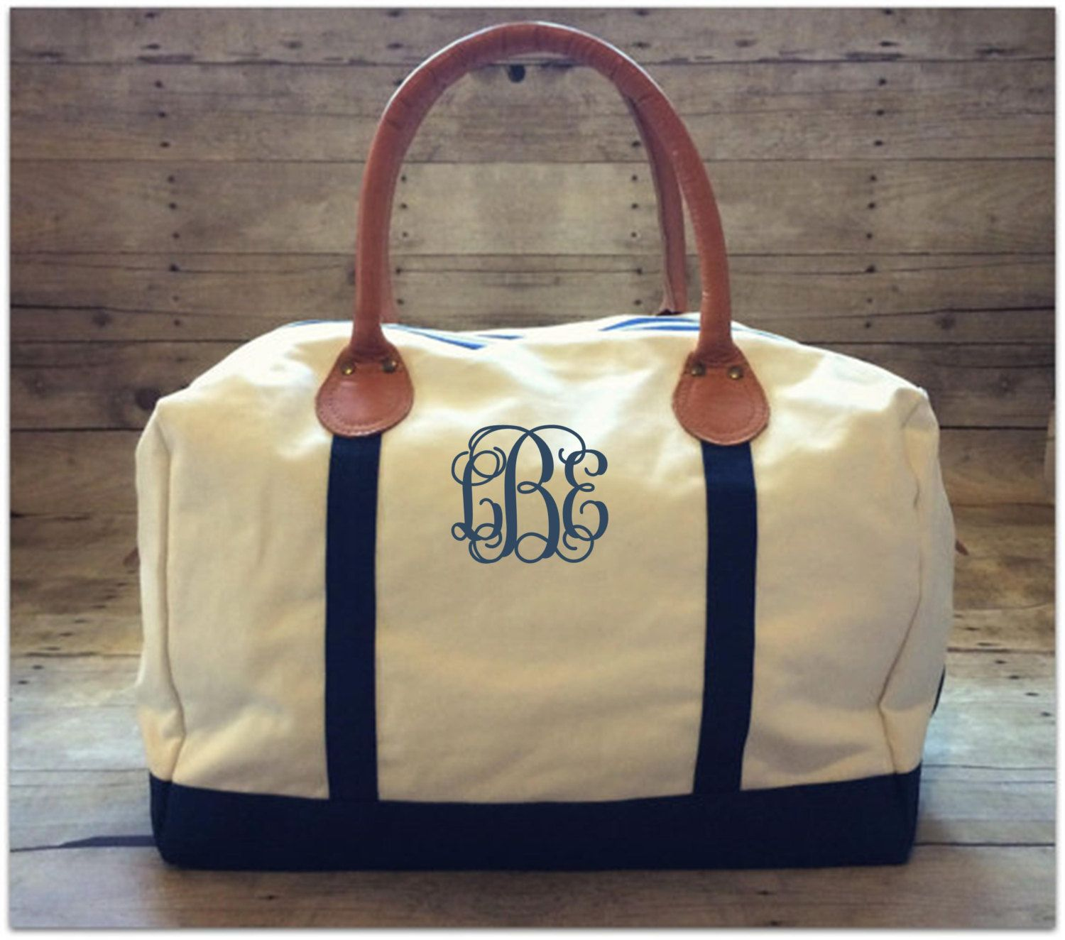 Monogrammed Weekender Overnight Bag - pinned by pin4etsy.com