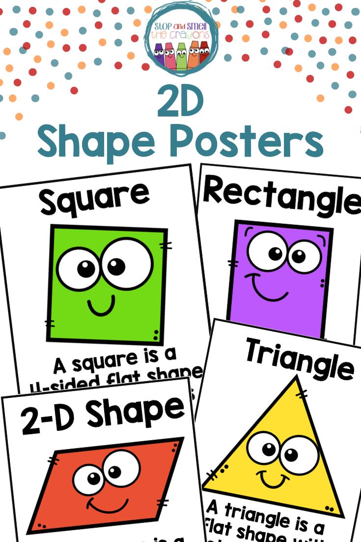 2d Shapes Anchor Posters 2d Shape Posters Shape Posters Kindergarten 2d Shapes Shape Posters