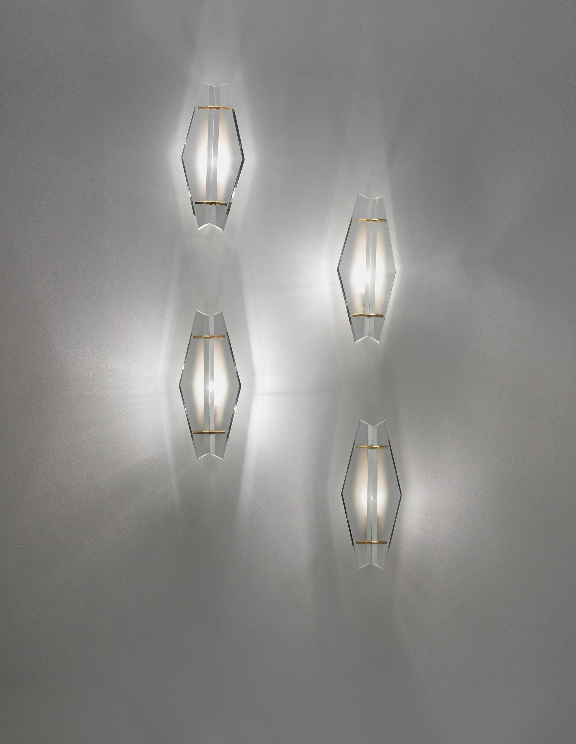 Max Ingrand Set Of Four Wall Lights Model No 1943 Circa 1960 Frosted Gl Br Each 43 8 X 21 16 Cm 17 1 4 6 In