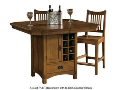 Hekman Dining Room Pub Storage Table 84034 - Hickory Furniture Mart - Hickory, NC