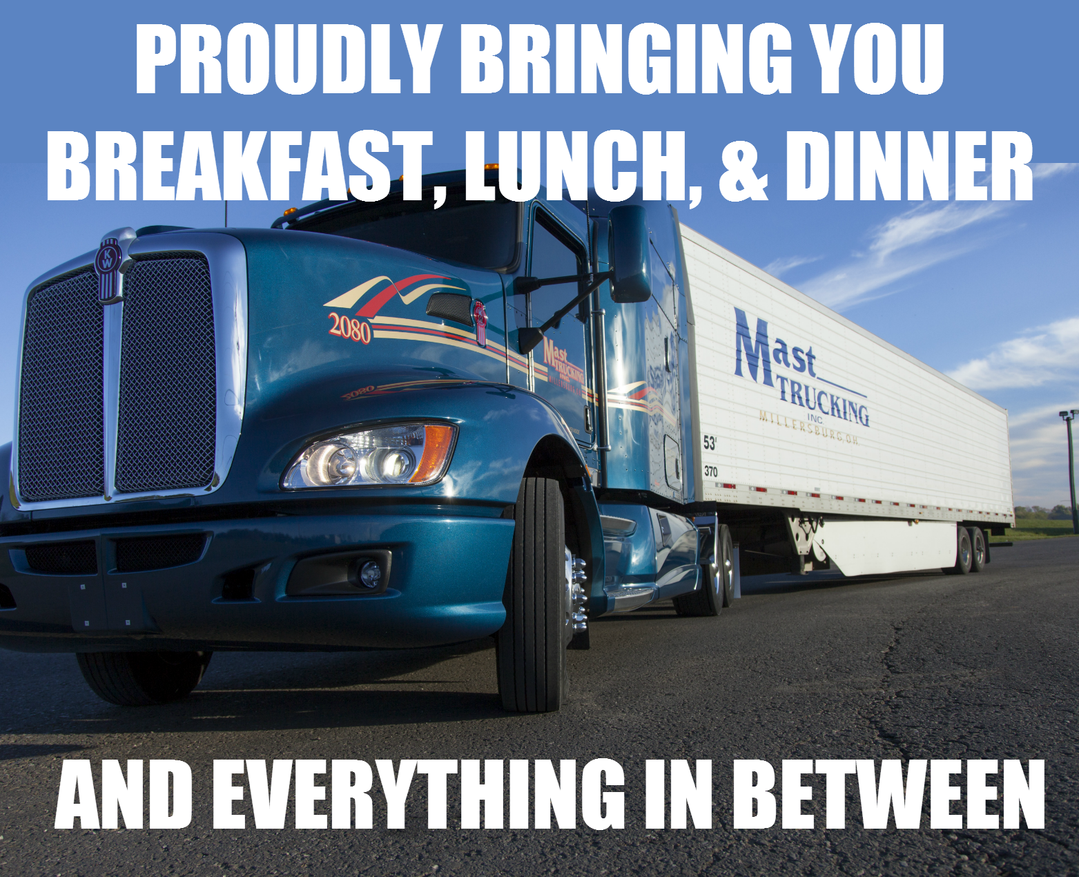 Proudly bringing you breakfast, lunch & dinner and