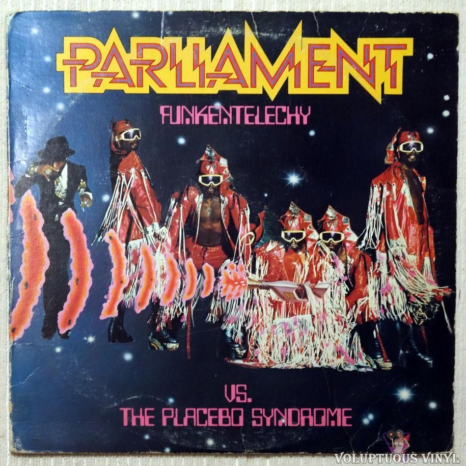 Parliament ‎– Funkentelechy Vs. The Placebo Syndrome (1977) | Parliament  funkadelic, Placebo, Classic album covers