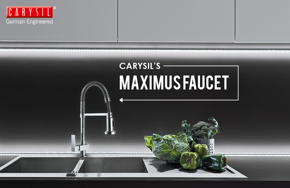 Accessorise your kitchen sink aptly with Carysil Faucets. #CarysilKitchen