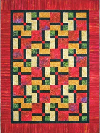 Turnstile Quilt Pattern A Disappearing Nine Patch Plus