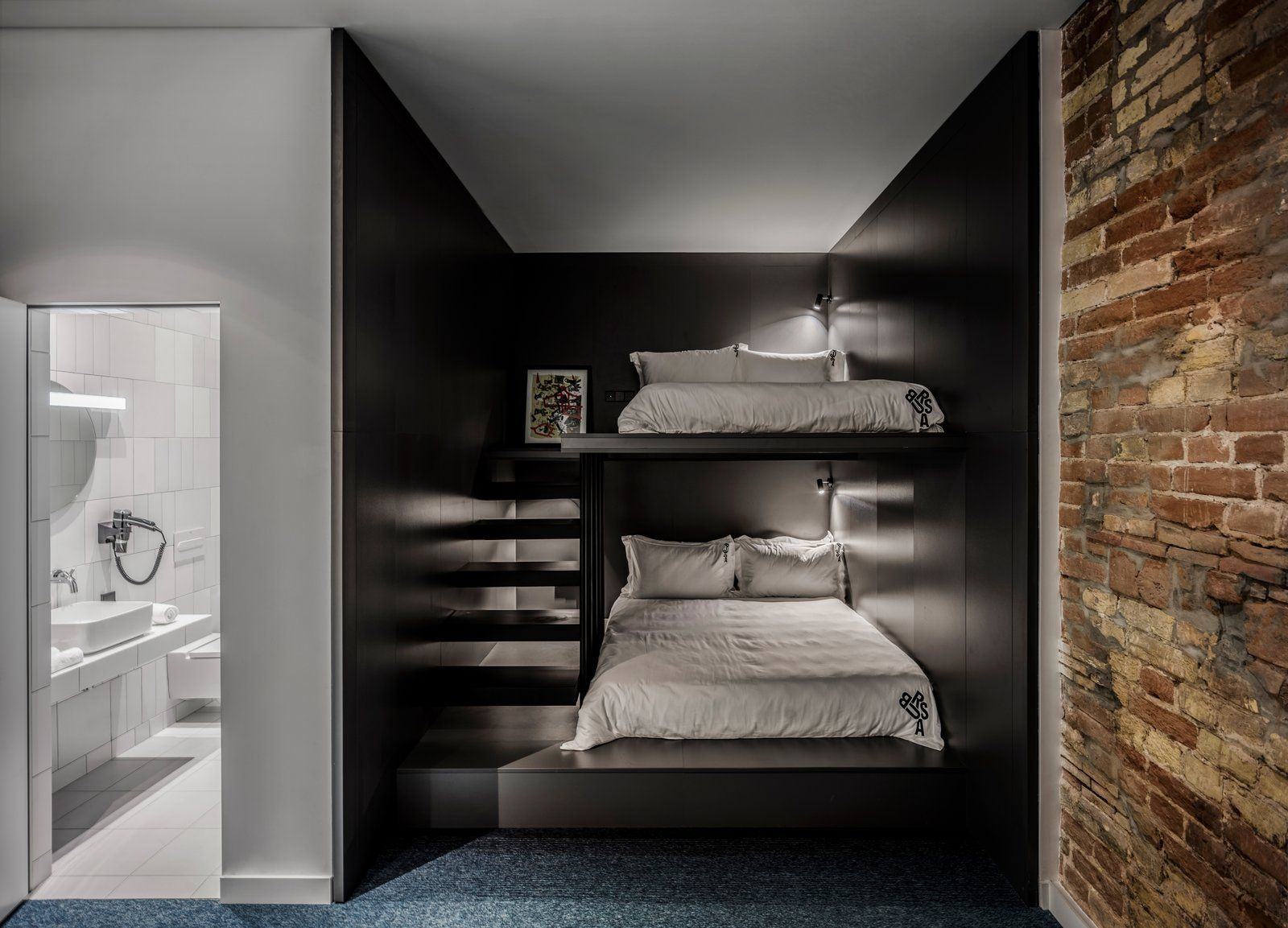 Photo 12 Of 21 In A Cool Bauhaus Style Hotel Revitalizes Two Bunk Beds For Sale Modern Bunk Beds Bunk Bed Designs