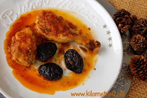 Pollastre amb prunes, de l'àvia Francisca / Pollo con ciruelas de laabuela Francisca