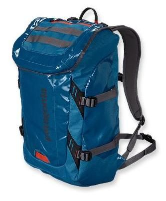 Camping gear we love!   Patagonia Black Hole Waterproof backpack www.greenglobaltravel.com #camping #gear #ecotourism #waterproof #backpack