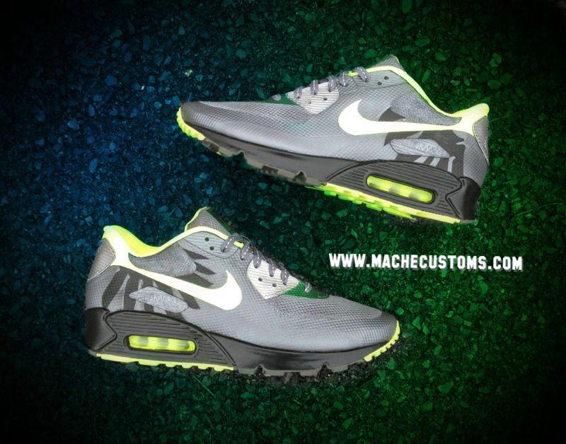 Nike Air Max 90 Hyperfuse Oregon Ducks by Mache Custom Kicks