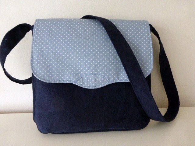 A personal favourite from my Etsy shop https://www.etsy.com/uk/listing/241899776/navy-blue-suede-and-cotton-print