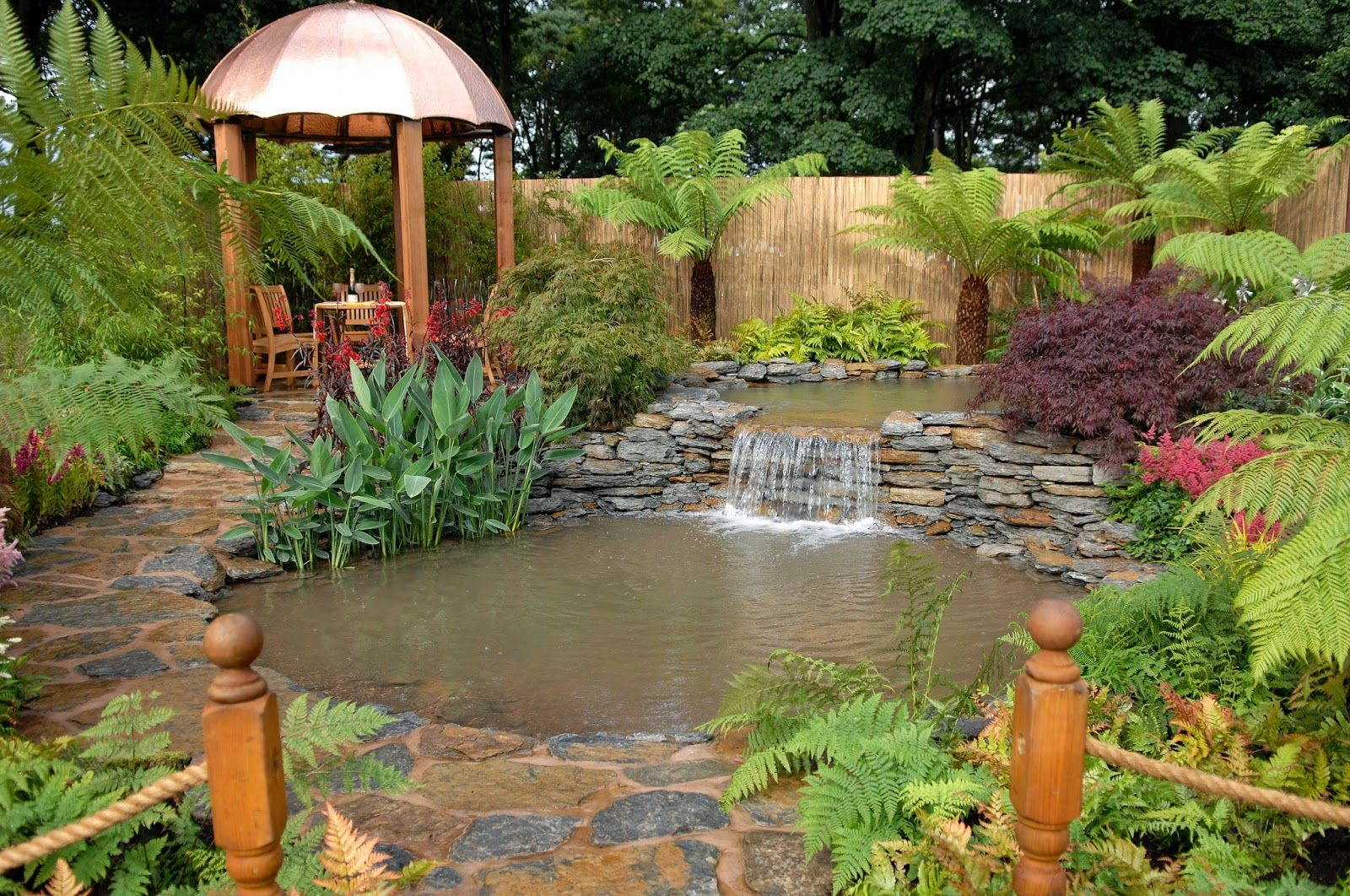 Arte y jardiner a dise o de jardines dise o de jardines for Estanques de agua para jardin