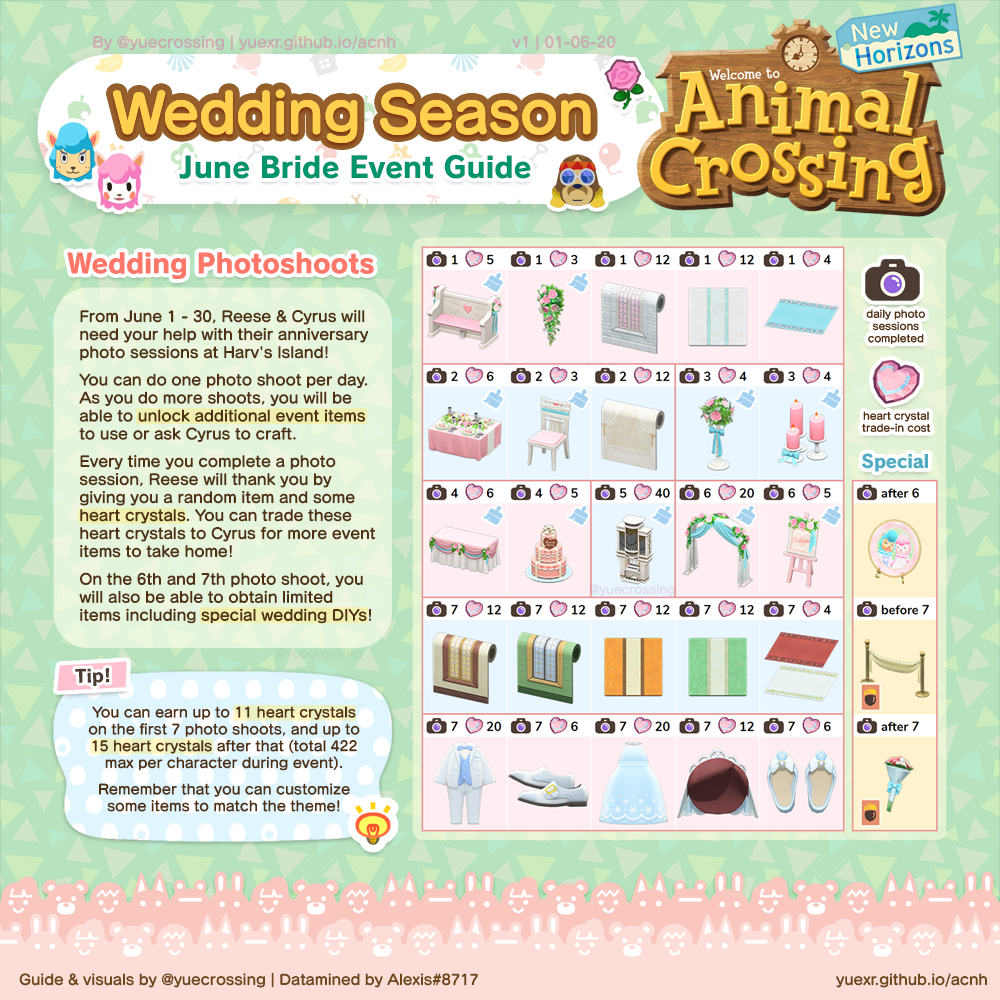 Wedding Season June Bride Event Guide In 2020 Animal Crossing New Animal Crossing Animal Crossing Guide