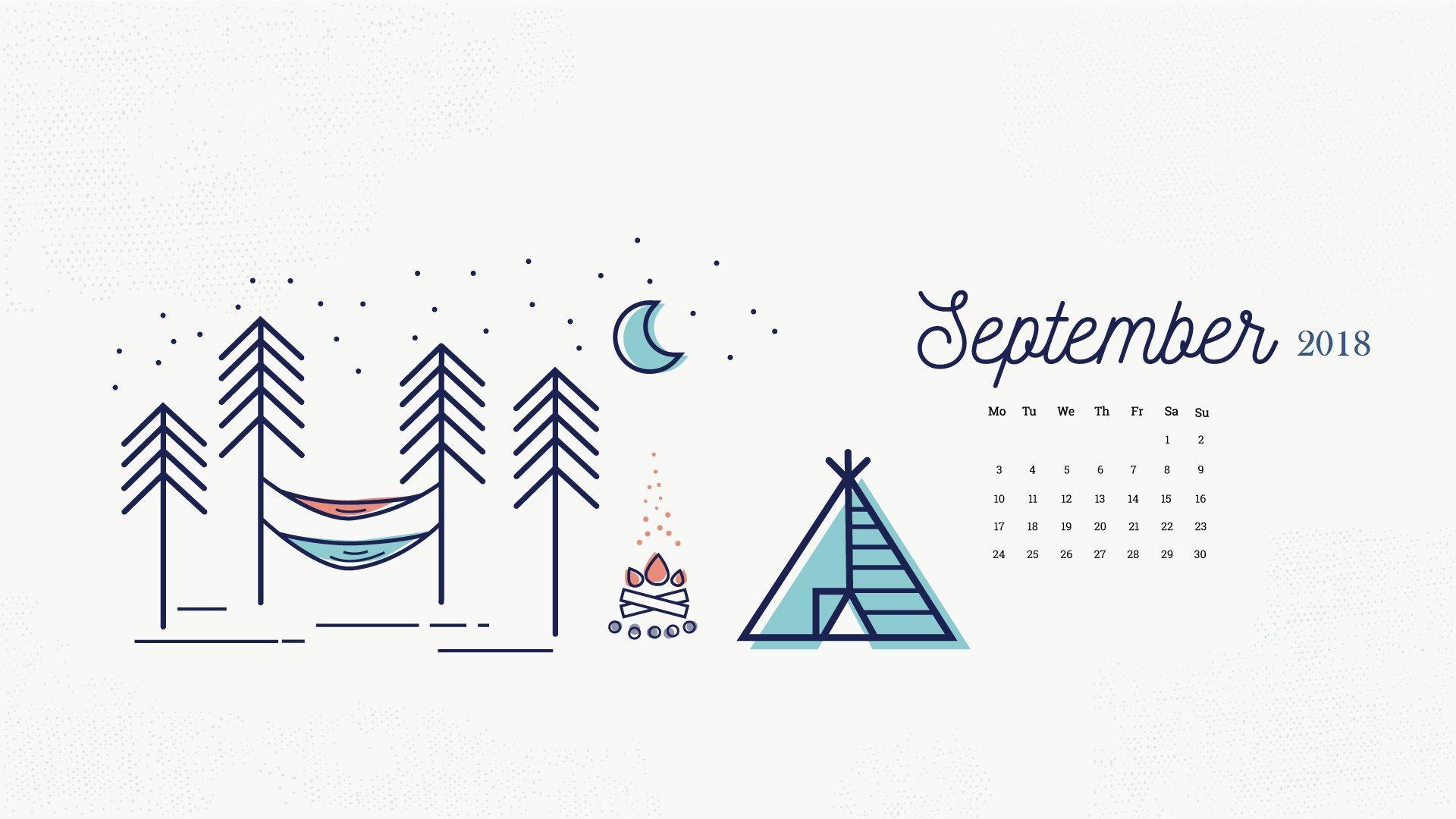 Desktop Calendar Wallpaper Creator : September 2018 desktop calendar 2018 calendars pinterest
