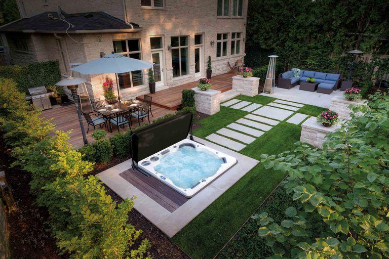 New! Introducing the House Beautiful hot tub and swim spa collection #backyardoasis