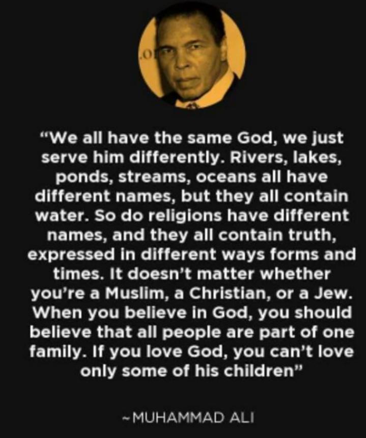 God And Muhammad Ali I Was Just Thinking Pinterest Zitate