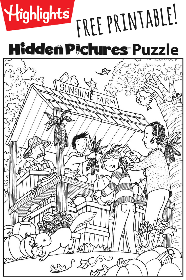 Download This Festive Fall Free Printable Hidden Pictures Puzzle To