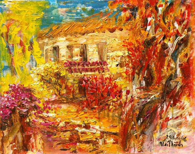 Autumn In Renoir S Garden Original Art By Van Duong Thanh Picassomio Art Original Art Renoir