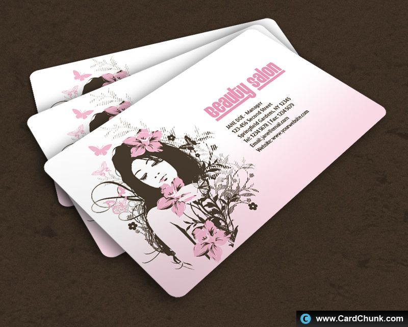 Salon free business card template free business cards pinterest salon free business card template colourmoves Images