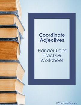 Coordinate Adjectives And Cumulative Adjectives Handout And