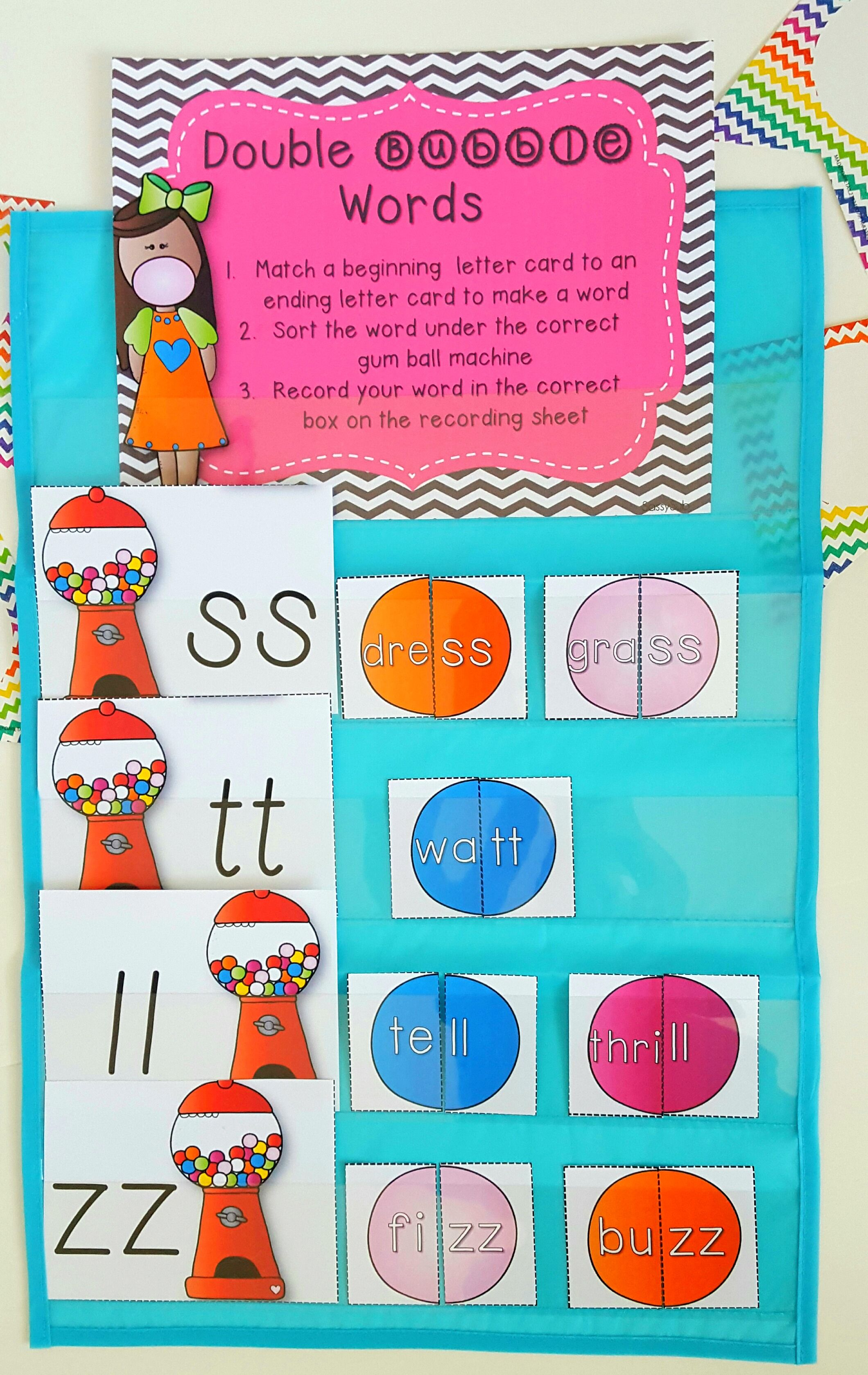 These Resources For Teaching Practicing And Reviewing Words With Double Consonants Are The Perfect Supplement To Your Phonics Lesson On Those Tricky