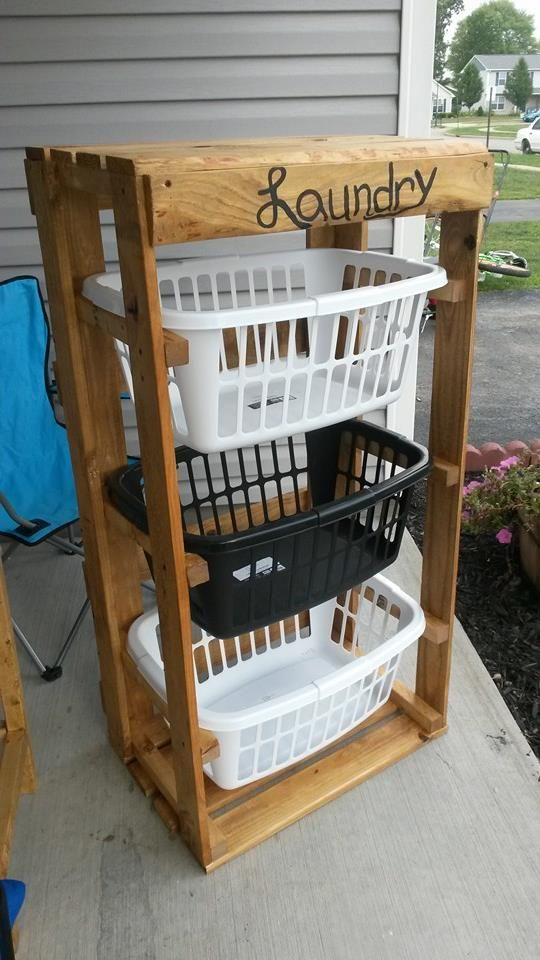 Laundry Basket Dresser For Sale Mesmerizing Pallet Laundry Baskets I Got The Pallets …  Baskets  Decorated Inspiration