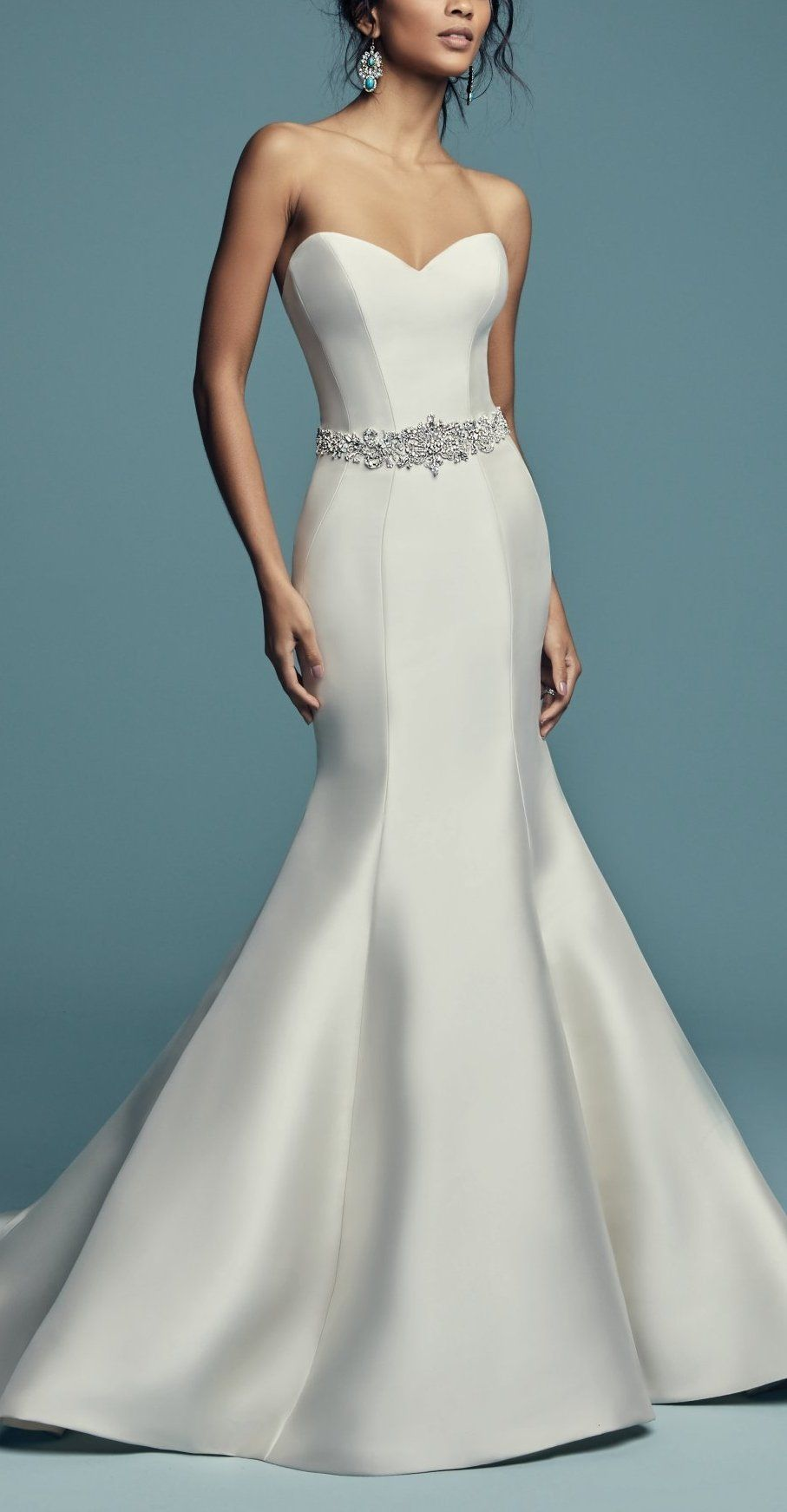 Hallie- Figure hugging wedding dress with sweetheart bodice and ...