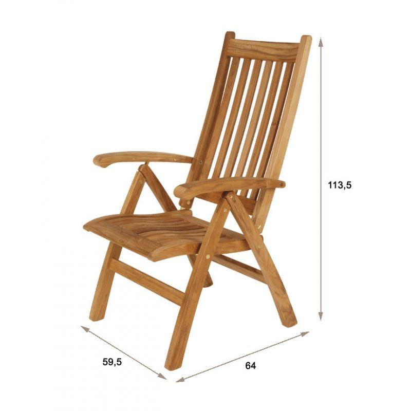 Liegestuhl Ascot mit hoher Rückenlehne (Teakholz) >> Gartenmöbel ...