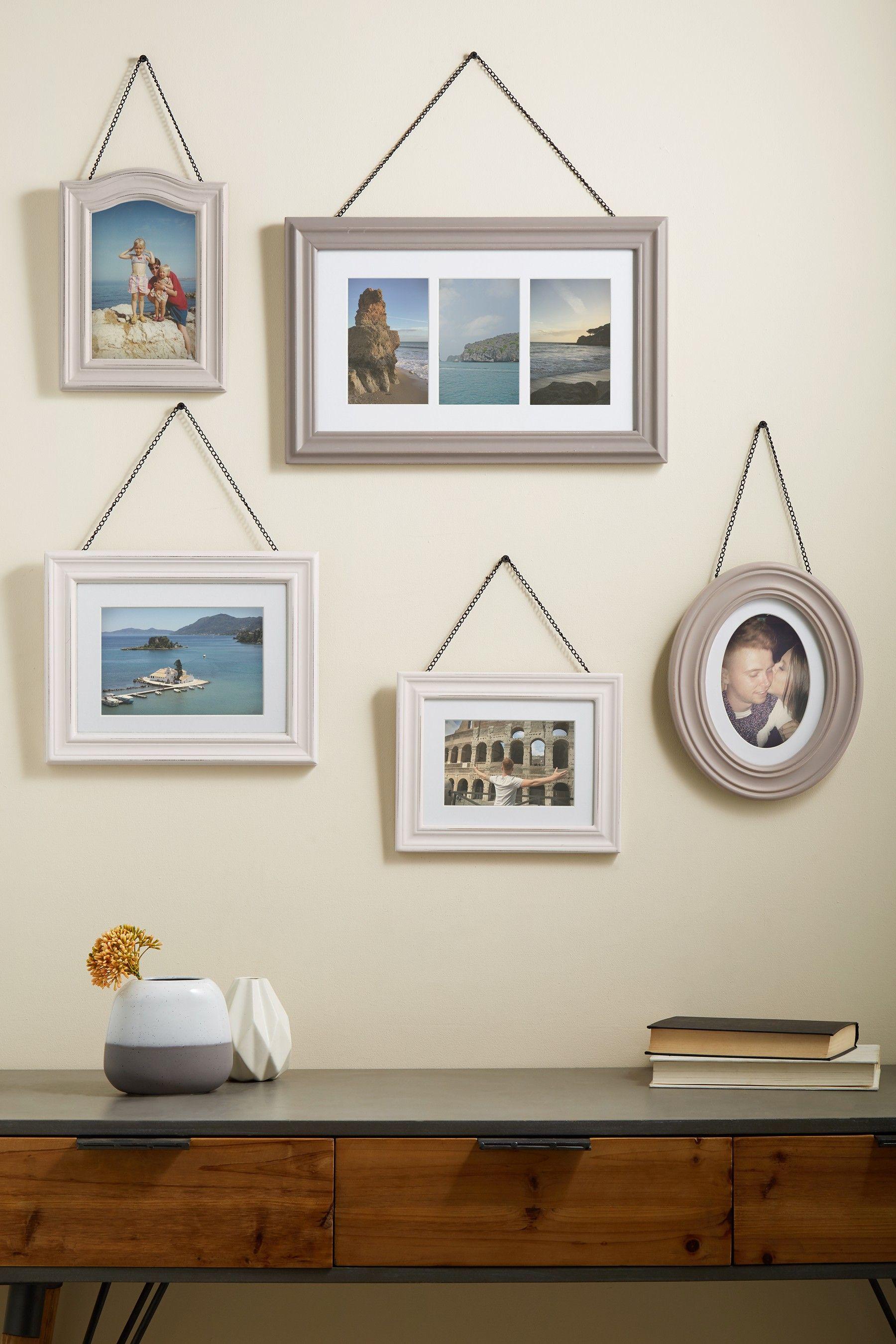 Set Of 5 Hanging Frames In 2020 Hanging Frames Frame Picture Frames