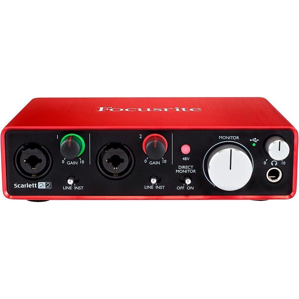 includes Bonus Audio-Technica Professional Monitor Headphones and More 2nd Generation Focusrite Scarlett 18i20 USB Audio Interface