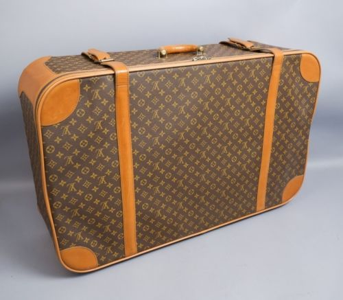 59633c58eba0 Vintage-1950s-60s-Louis-Vuitton-Giant-Strapped-Leather-Suitcase-36-x ...
