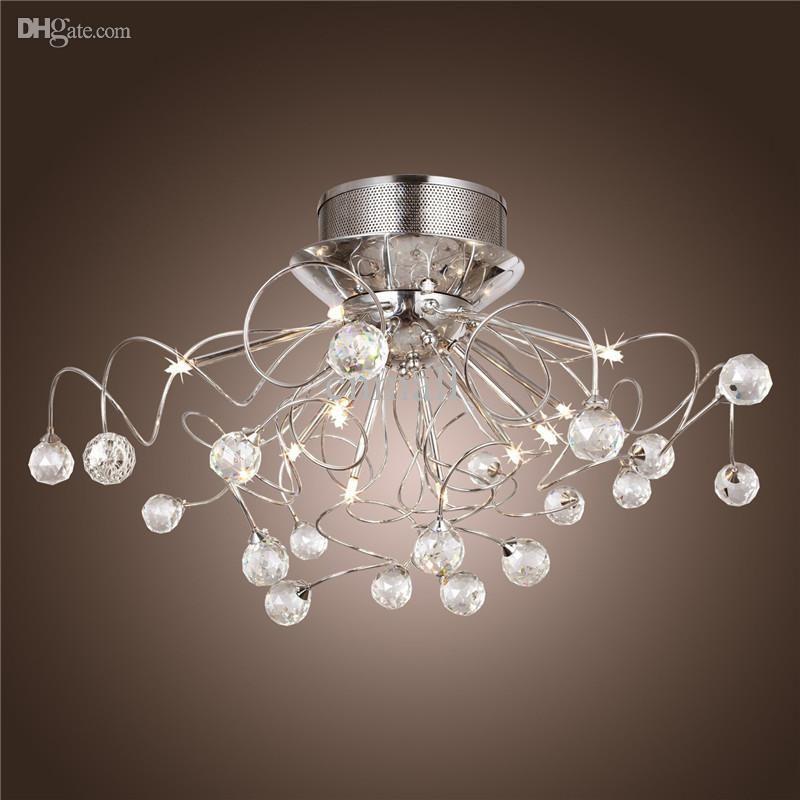 Moderne Crystal Led Kronleuchter Decke Licht Leuchte Beleuchtung Kristall Kronleuchter  Lampen Schmuckanhänger Leichte Mit