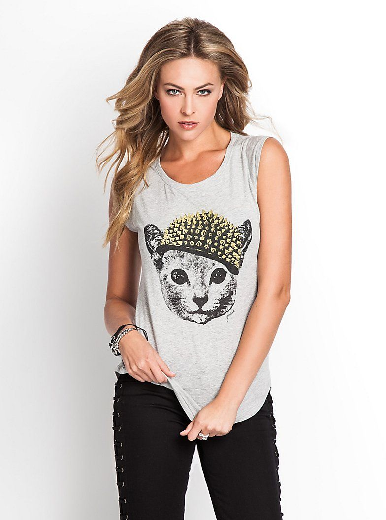 Graphic Kitty Tee Fashion, Women, Tees